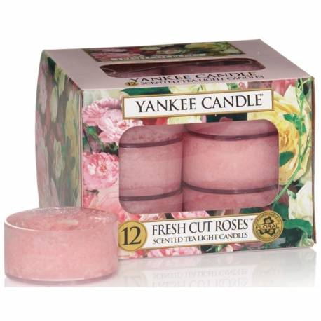 Yankee Candle Teelichter 12er Pack Fresh Cut Roses