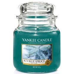 Yankee Candle Jar Glaskerze mittel 411g Icy Blue Spruce