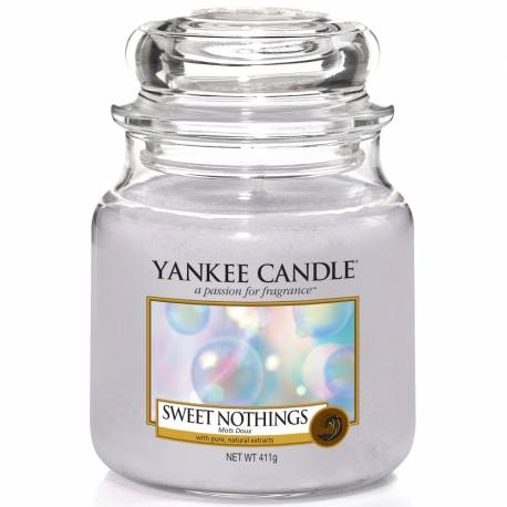 Yankee Candle Jar Glaskerze mittel 411g Sweet Nothings