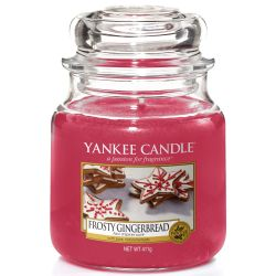 Yankee Candle Jar Glaskerze mittel 411g Frosty Gingerbread