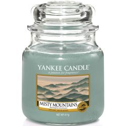 Yankee Candle Jar Glaskerze mittel 411g Misty Mountains