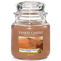 Yankee Candle Jar Glaskerze mittel 411g Warm Desert Wind