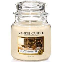 Yankee Candle Jar Glaskerze mittel 411g Winter Wonder