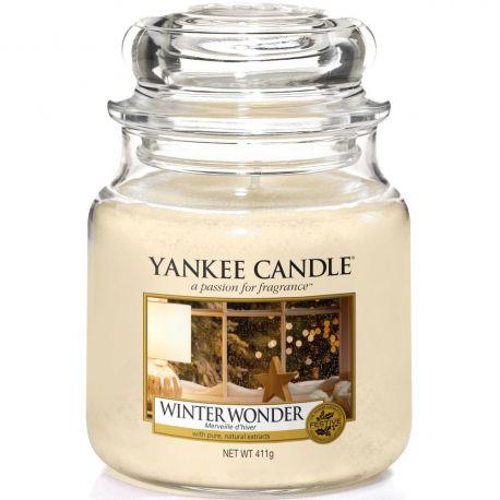 Yankee Candle Jar Glaskerze mittel 411g Winter Wonder