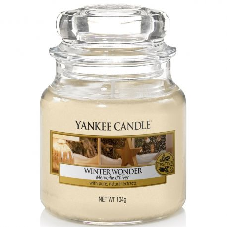Yankee Candle Jar Glaskerze klein 104g Winter Wonder