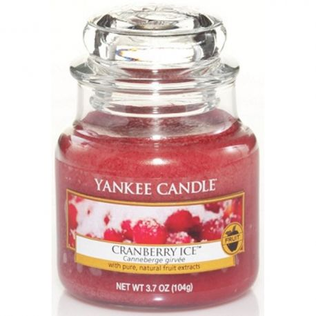 Yankee Candle Jar Glaskerze klein 104g Cranberry Ice