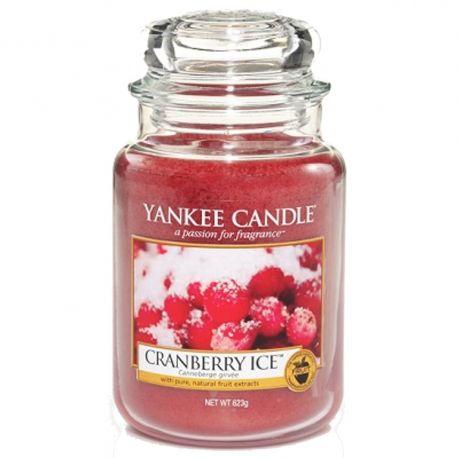 Yankee Candle Jar Glaskerze groß 623g Cranberry Ice