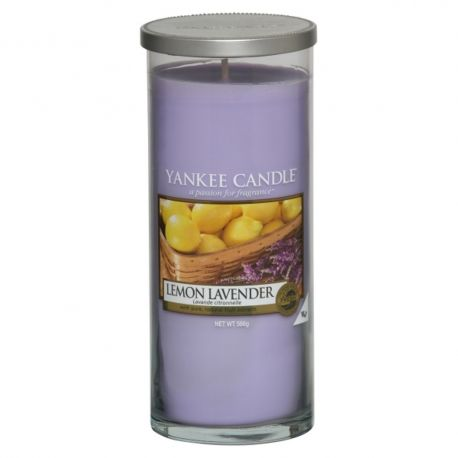 Yankee Candle Pillar Glaskerze gross 566g Lemon Lavender