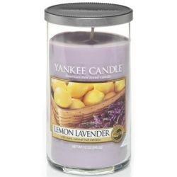 Yankee Candle Pillar Glaskerze mittel 340g Lemon Lavender