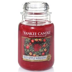 Yankee Candle Jar Glaskerze groß 623g Red Apple Wreath