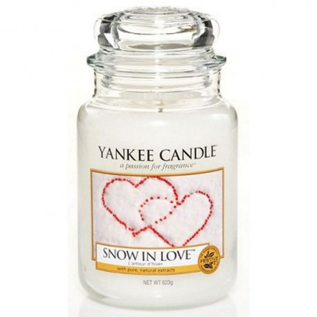 Yankee Candle Jar Glaskerze groß 623g Snow in Love
