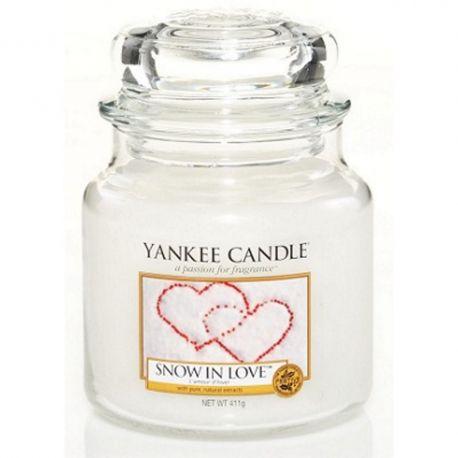 Yankee Candle Jar Glaskerze mittel 411g Snow in Love