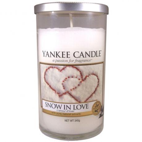 Yankee Candle Pillar Glaskerze mittel 340g Snow in Love