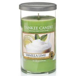 Yankee Candle Pillar Glaskerze mittel 340g Vanilla Lime