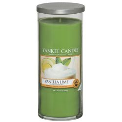 Yankee Candle Pillar Glaskerze gross 566g Vanilla Lime