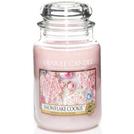 Yankee Candle Jar Glaskerze groß 623g Snowflake Cookie