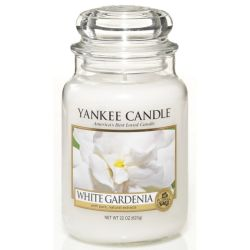 Yankee Candle Jar Glaskerze groß 623g White Gardenia *