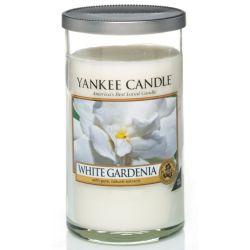 Yankee Candle Pillar Glaskerze mittel 340g White Gardenia *