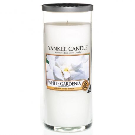 Yankee Candle Pillar Glaskerze gross 538g White Gardenia *