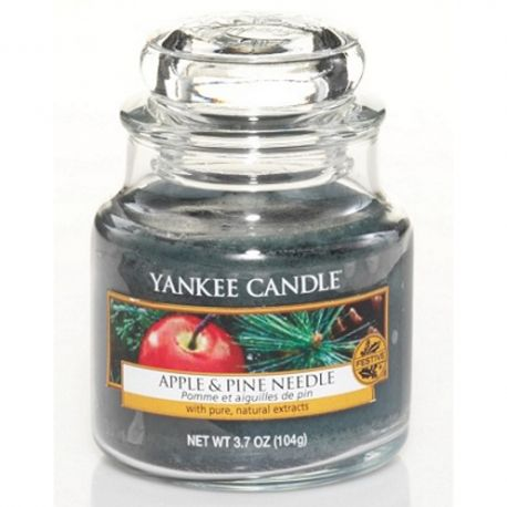 Yankee Candle Jar Glaskerze klein 104g Apple & Pine Needle *