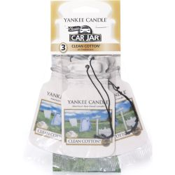 Yankee Candle Car Jar 3er Bonuspack Clean Cotton