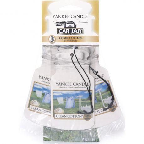 Yankee Candle Car Jar 3er Bonuspack Clean Cotton