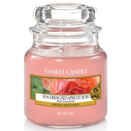 Yankee Candle Jar Glaskerze klein 104g Sun-Drenched Apricot Rose