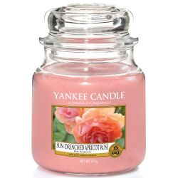 Yankee Candle Jar Glaskerze mittel 411g Sun-Drenched Apricot Rose