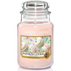 Yankee Candle Jar Glaskerze groß 623g Rainbow Cookie