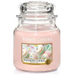 Yankee Candle Jar Glaskerze mittel 411g Rainbow Cookie