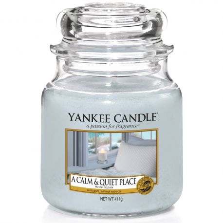 Yankee Candle Jar Glaskerze mittel 411g A Calm And Quiet Place