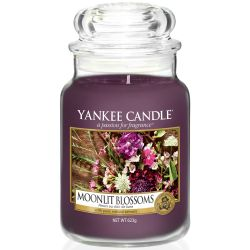 Yankee Candle Jar Glaskerze groß 623g Moonlit Blossoms