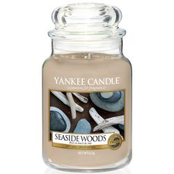Yankee Candle Jar Glaskerze groß 623g Seaside Woods