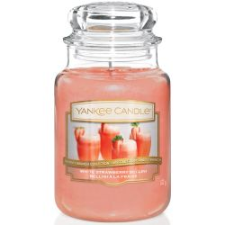 Yankee Candle Jar Glaskerze groß 623g White Strawberry Bellini