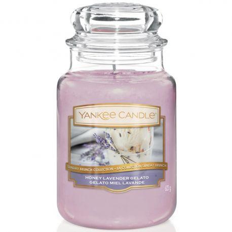 Yankee Candle Jar Glaskerze groß 623g Honey Lavender Gelato