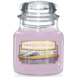 Yankee Candle Jar Glaskerze klein 104g Honey Lavender Gelato