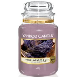 Yankee Candle Jar Glaskerze groß 623g Dried Lavender & Oak