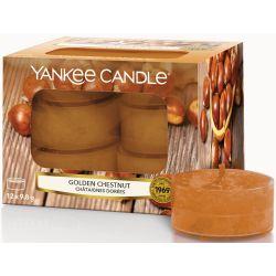 Yankee Candle Teelichter 12er Pack Golden Chestnut