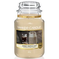 Yankee Candle Jar Glaskerze groß 623g Sweet Maple Chai
