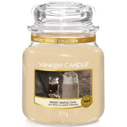Yankee Candle Jar Glaskerze mittel 411g Sweet Maple Chai