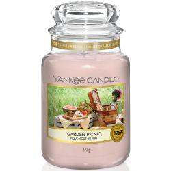 Yankee Candle Jar Glaskerze groß 623g Garden Picnic
