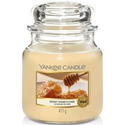 Yankee Candle Jar Glaskerze mittel 411g Sweet Honeycomb
