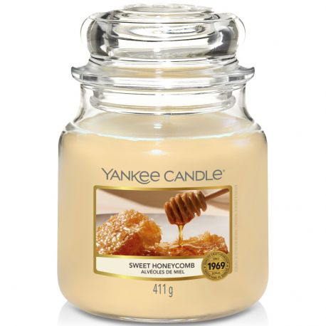 Yankee Candle Jar Glaskerze mittel 411g Sweet Honeycomb