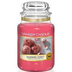 Yankee Candle Jar Glaskerze groß 623g Roseberry Sorbet