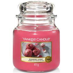 Yankee Candle Jar Glaskerze mittel 411g Roseberry Sorbet