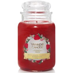 Yankee Candle Jar Glaskerze groß 623g Strawberry