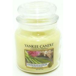 Yankee Candle Jar Glaskerze mittel 411g Lemongrass & Ginger *