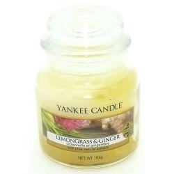Yankee Candle Jar Glaskerze klein 104g Lemongrass & Ginger