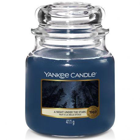 Yankee Candle Jar Glaskerze mittel 411g A Night Under The Stars