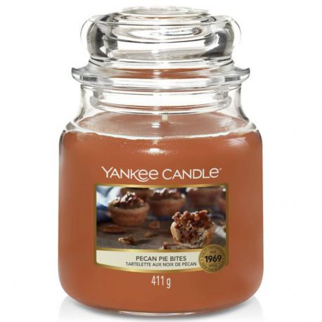 Yankee Candle Jar Glaskerze mittel 411g Pecan Pie Bites